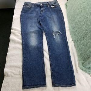 Old Navy Boyfriend Straight Distressed  torn Jeans